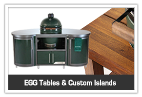 Big Green Eggs tables and islands